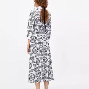 c27e86ddc3b Zara Dresses - ZARA LONG TUNIC SHIRT DRESS CONTRASTING EMBROIDERY